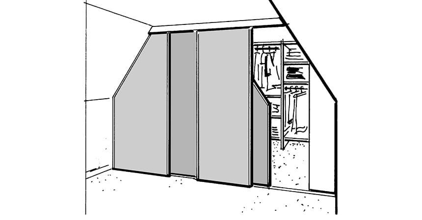 finden sie die richtigen m bel f r die dachschr ge. Black Bedroom Furniture Sets. Home Design Ideas